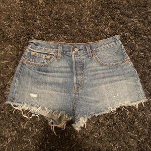 Levi's 501 cut-off jean shorts